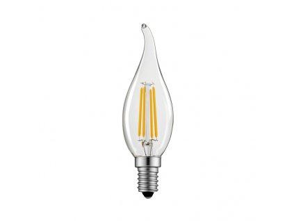 Retro LED Candle Flame Filament žárovka čirá 6,5W/230V/E14/2700K/800Lm/360°/A++