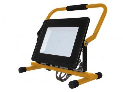 LED přenosný venkovní reflektor 100W/230V/6400K/8500Lm/100°/IP65, černý