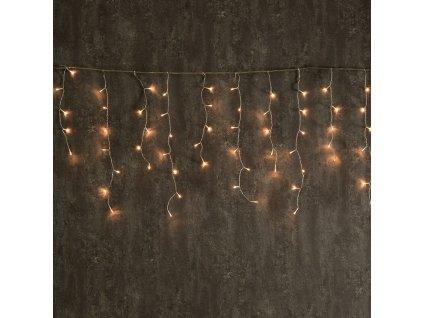 LED vánoční světelný závěs, 3x3m, teplá bílá, IP44, 144 LED, 8 funkcí