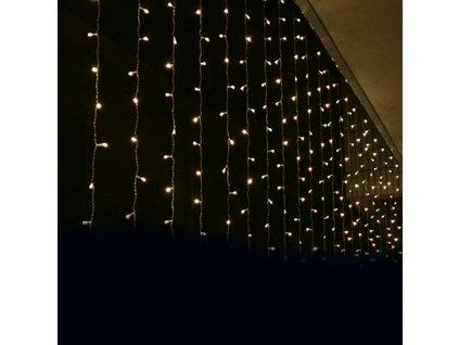 LED vánoční světelný závěs, 3x2m, teplá bílá, IP44, 240 LED