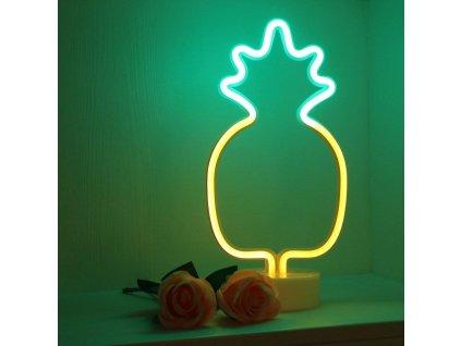 Neonová lampička - Ananas, 3x AA baterie, IP20