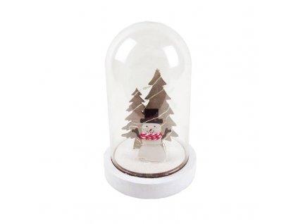 LED vánoční dekorace - sněhulák, na baterie 2x AAA, teplá bílá, IP20