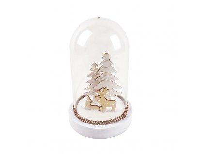 LED vánoční dekorace - jelen a laň, na baterie 2x AAA, teplá bílá, IP20