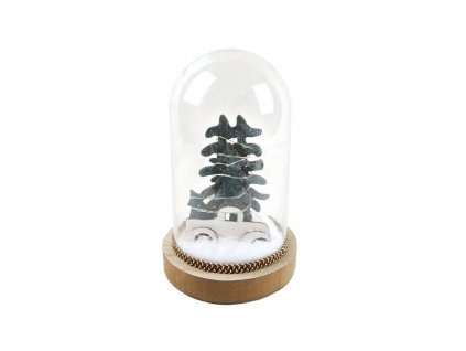 LED vánoční dekorace - autíčko, na baterie 2x AAA, teplá bílá, IP20