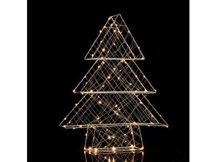 LED vánoční 3D stromeček kovový, 100 LED/230V/IP44/teplá bílá