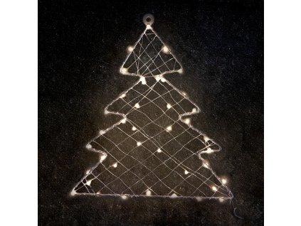 LED vánoční stromeček do okna, 40 LED/230V/IP44/teplá bílá