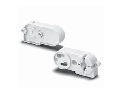 Objímka patice G13 se startérem typ 47600 pro zářivky T8 a T12, bílá