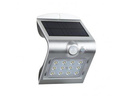 LED solární svítidlo se senzorem pohybu 2W/4000K/220Lm/IP65/Li-on  3,7V/1200mAh, stříbrné