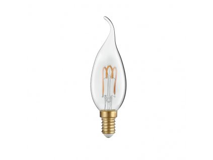 Retro LED Spiral Filament Candle Clear Flame žárovka 3W/230V/E14/2700K/220Lm/300°