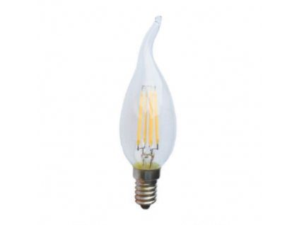 Retro LED Filament žárovka Candle Flame Clear 4W/230V/E14/4000K/410Lm/360°