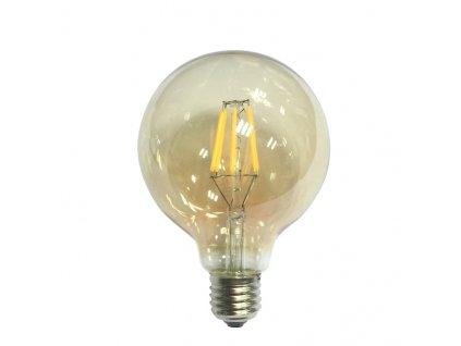 Retro LED Globe Filament žárovka Amber G95 6W/230V/E27/2700K/680Lm/360°/DIM