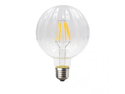 Retro LED Filament žárovka Clear Decor BARI G100 6W/230V/E27/2700K/690Lm/360°/DIM