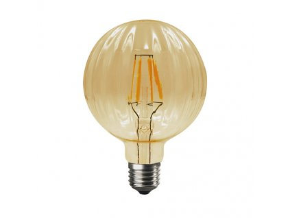 Retro LED Filament žárovka Amber Decor BARI G100 6W/230V/E27/2700K/680Lm/360°/DIM