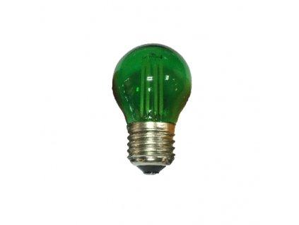 LED Decor Filament barevná žárovka P45 4W/230V/E27/Green/390Lm/360°, zelená