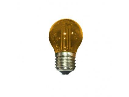 LED Decor Filament barevná žárovka P45 4W/230V/E27/Orange/390Lm/360°, oranžová