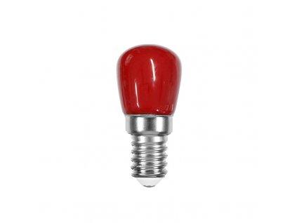 LED mini žárovka červená ST26 1W/230V/E14/Red/60Lm/360°/A+