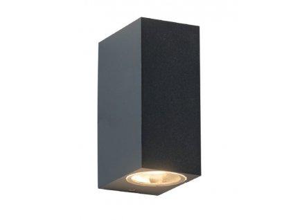 Zahradní nástěnné svítidlo VITA max. 35W/2xGU10/230V/IP54, tmavě šedé