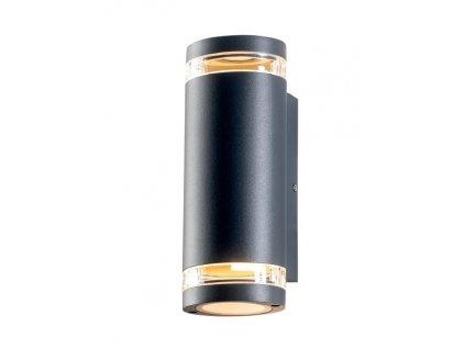 Zahradní nástěnné svítidlo MELITTA max. 35W/2xGU10/230V/IP54, tmavě šedé
