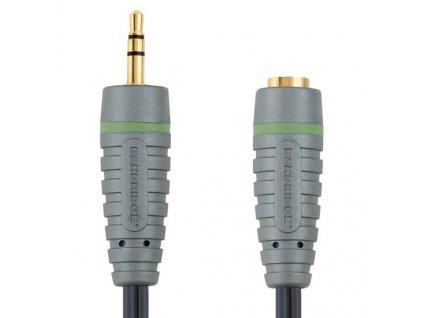 3,5mm JACK konektor stereo - 3.5mm JACK zdířka stereo, 1m