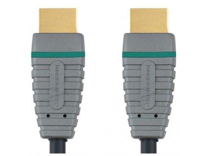 HDMI 1.4, pozlacené konektory, HDMI A konektor - HDMI A konektor, 5m