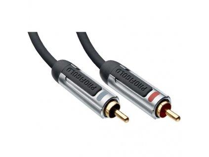 Stereo audio kabel, 2xCINCH konektor - 2xCINCH konektor, 0,5m