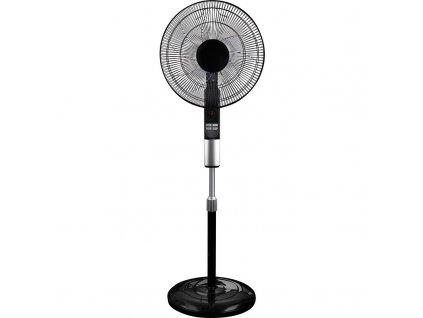Ventilátor stojanový 45cm, dálkové ovládání, černý