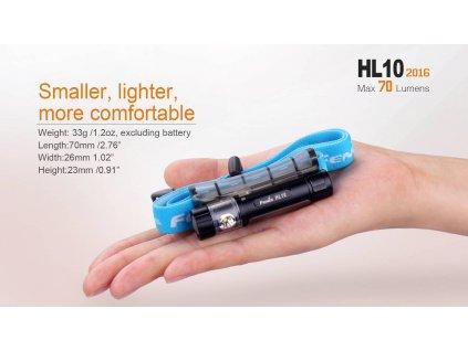 LED čelová svítilna Fenix HL10 70Lm  1 x baterie AAA