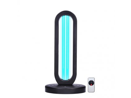 Přenosná stolní germicidní UV-C lampa, časový spínač, černá
