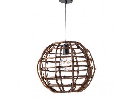 Závěsné svítidlo ZULU max. 60W/E27/230V/IP20, tmavé dřevo