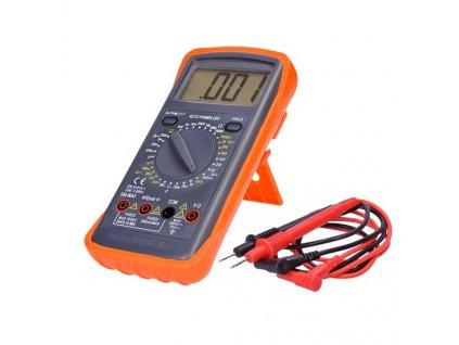 Multimetr, max. AC 600V/10A, max. DC 600V/10A, test diody, bzučák, hFE, kapacita, odpor