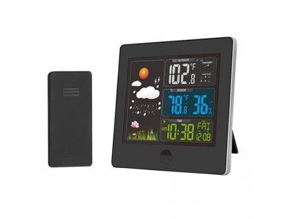 Meteostanice, barevný LCD, teplota, vlhkost,RCC, černá