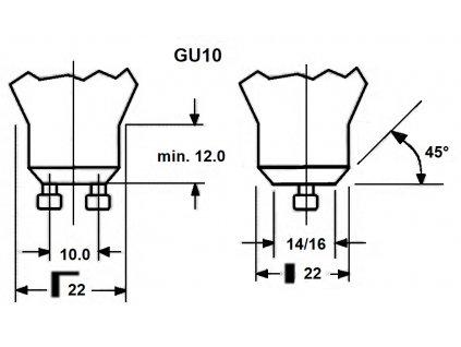 SMD LED Reflektor PAR11 2.5W/GU10/230V/3000K/260Lm/38°/A+