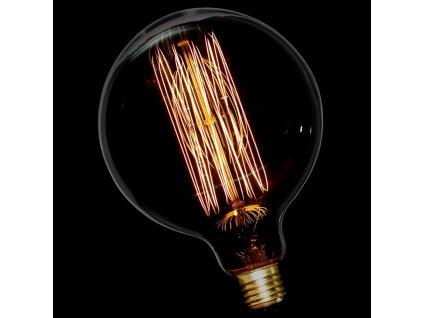 EDISON Retro Carbon Filament žárovka G125 E27 40W