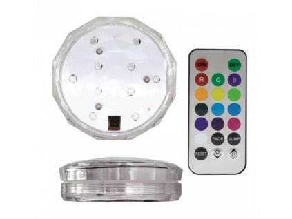 LED svítidlo GIZMO COLORTONE RGB+W/50Lm/IP68, dálkové ovládání, 3x AA baterie