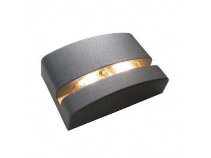LED nástěnné svítidlo VITRINE 5W/230V/3000K/200Lm/55°/IP65, tmavě šedé