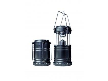 LED kempingová  svítilna 1W, 3x AA baterie, černá