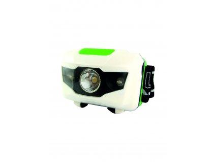 LED čelová svítilna 3W/110Lm, 3x baterie AAA