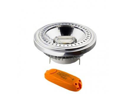 Double COB LED Reflektor AR111 G53/12V/15W/2700K/900Lm/20°/Dim + Driver 12V