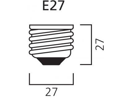 SMD LED žárovka matná A60 10W/230V/E27/4000K/820Lm/180°/A+