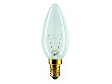 Žárovka svíčková čirá C35 25W E14 230V