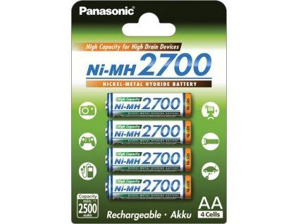 Baterie AA/HR6 2700mAh PANASONIC 4ks (blistr)