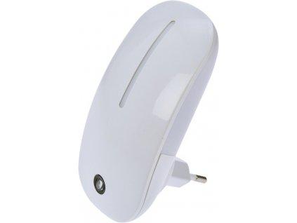 LED orientační lampička + světelný senzor 1W/230V bílá