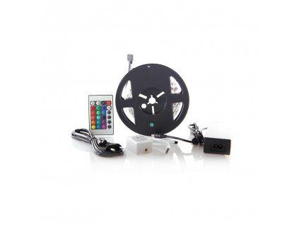 LED RGB pásek 3m, sada s 12V adaptérem a dálkovým ovladačem, 7,2W/m, IP20