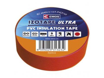Izolační páska 15mm x 10m, červená