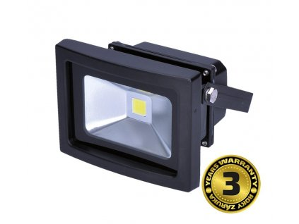 LED venkovní reflektor 10W/230V/6000K/700Lm/IP65, černý