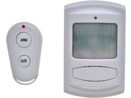 Pohybový senzor+GSM alarm, dálkové ovládání, bílý