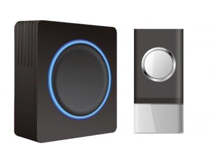 Bezdrátový zvonek 1L20B Black, 1x tlačítko