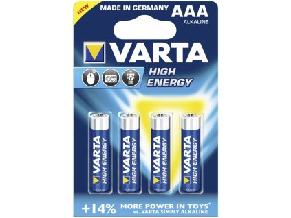 Baterie AAA/LR03 VARTA High Energy 4ks (blistr)