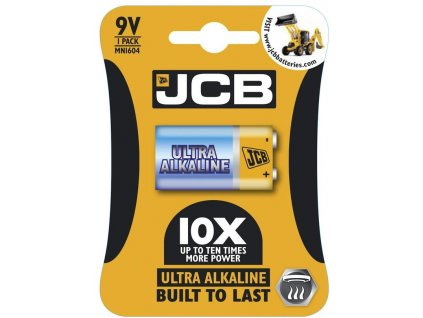 Baterie 9V JCB OXI ULTRA 1ks (blistr)