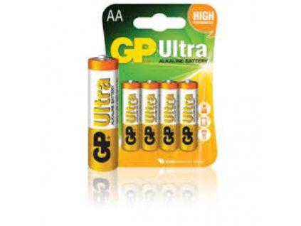 Baterie AA/LR6 GP Ultra Alkaline 4ks (blistr)
